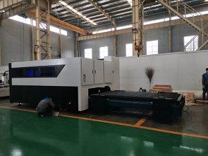 Tagliatrice del laser della fibra del metallo della lamiera sottile e del tubo dell'incisore della taglierina della fibra di CNC 500W